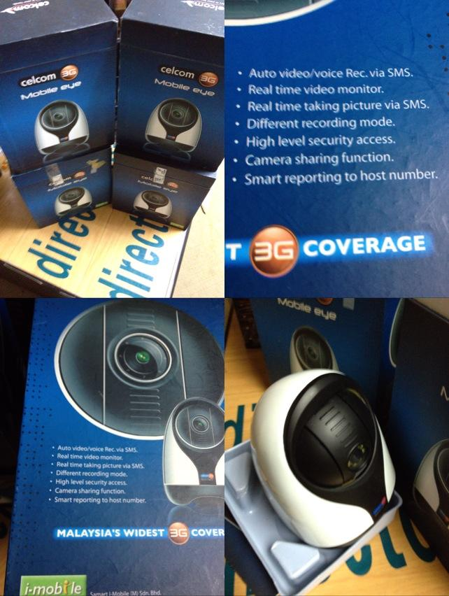 Celcom 3G Mobile Eye-3G wireless Security CCTV CAMERA