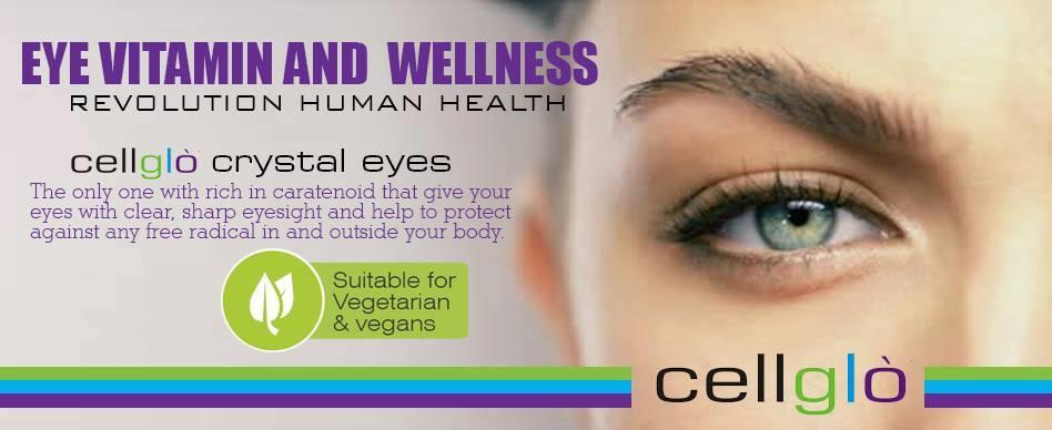 Cellglo Crystal Eyes,Eye Vitamin & Body Wellness, Formulated in France