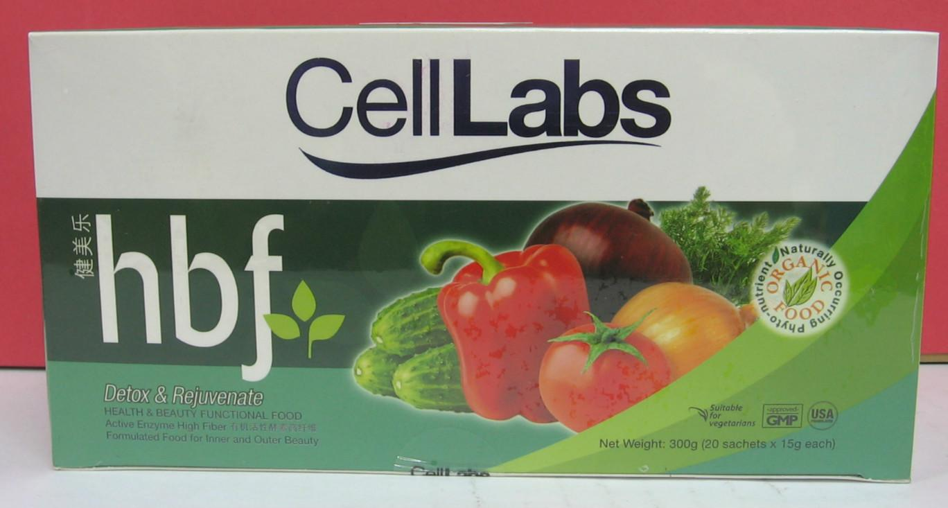 CellLabs hbf 20's X 15g detox rejuvanate