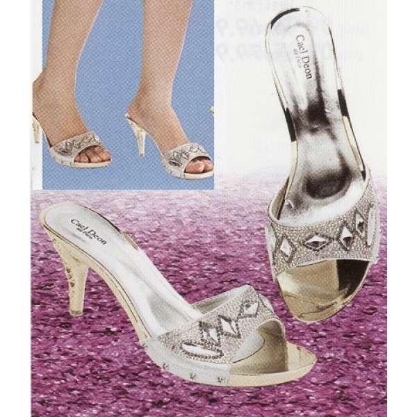 "**CELLY**2.5"" Ladies High Heel Sandal Shoe (Silver)"