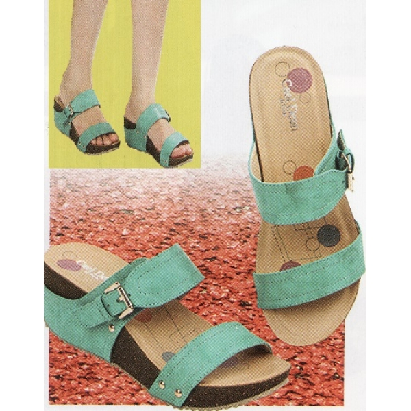 """**CELLY**2.5"""" Ladies High Heel Sandal Shoe (Turquoise)"""