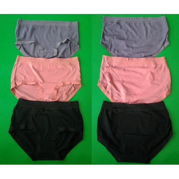 **CELLY**3 IN 1 COTTON PLUS SIZE PANTIES (ASSORTED COLOUR)