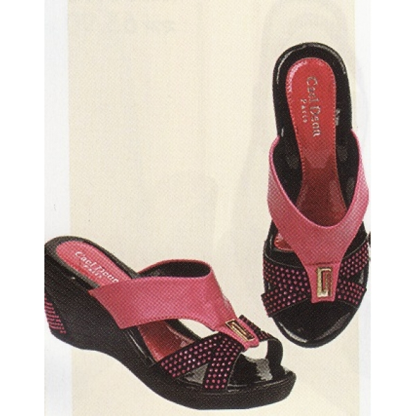 "**CELLY**3"" Ladies High Heel Sandal Shoe (Pink)"