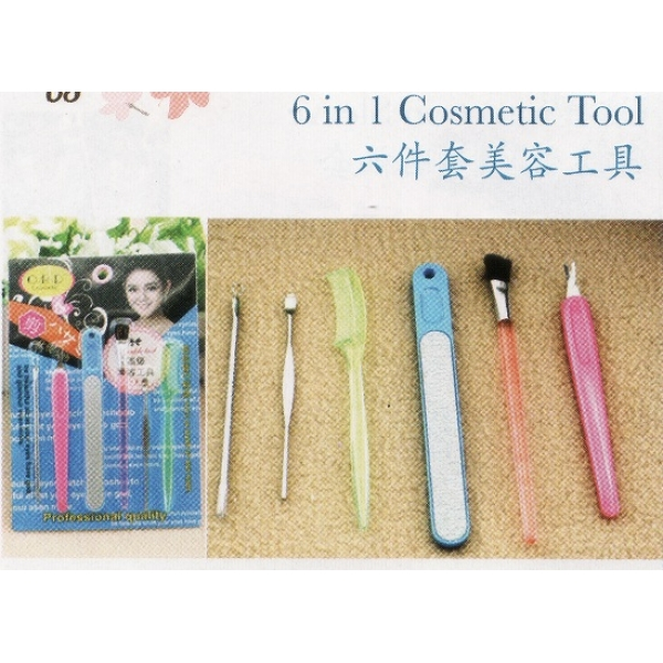 **CELLY** 6 IN 1 COSMETIC TOOLS