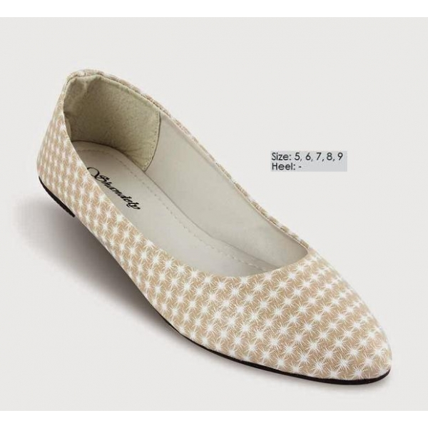 **CELLY** AUTHENTIC LADIES FLAT SHOE (BEIGE)