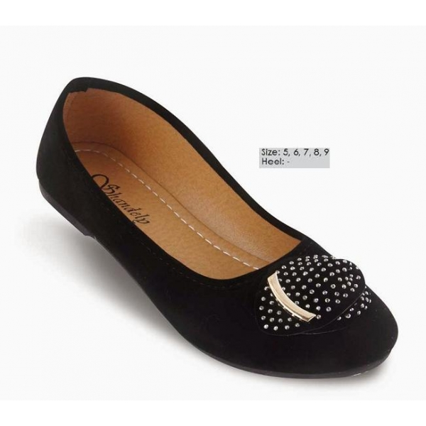 **CELLY** AUTHENTIC LADIES FLAT SHOE (BLACK)