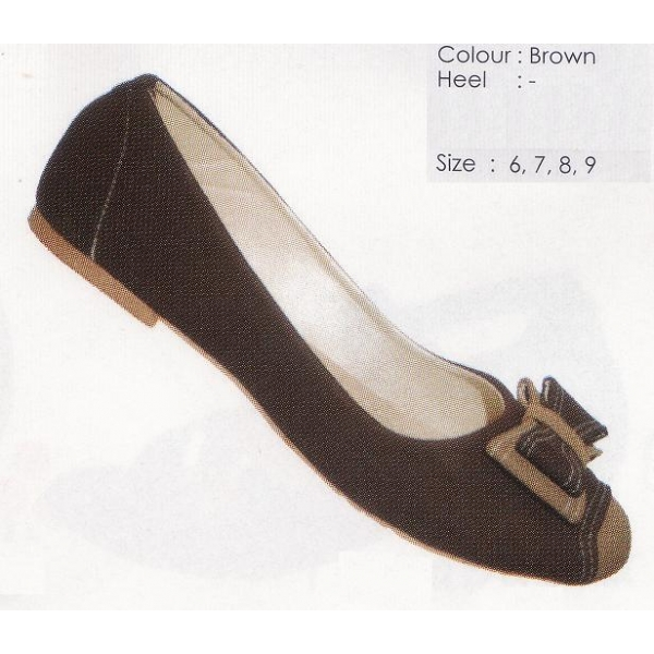 **CELLY** AUTHENTIC LADIES FLAT SHOE (BROWN)