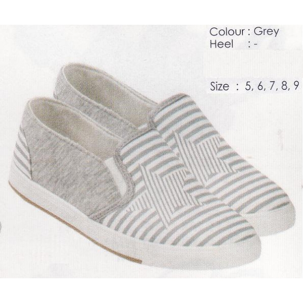 **CELLY** AUTHENTIC LADIES FLAT SHOE (GREY)