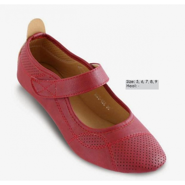 **CELLY** AUTHENTIC LADIES FLAT SHOE (RED)