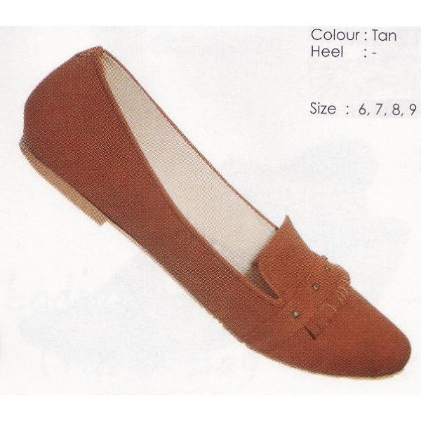 **CELLY** AUTHENTIC LADIES FLAT SHOE (TAN)