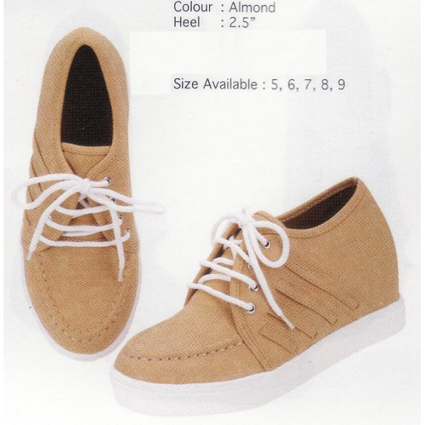 **CELLY** AUTHENTIC LADIES SPORT/ SNEAKER SHOE (ALMOND)