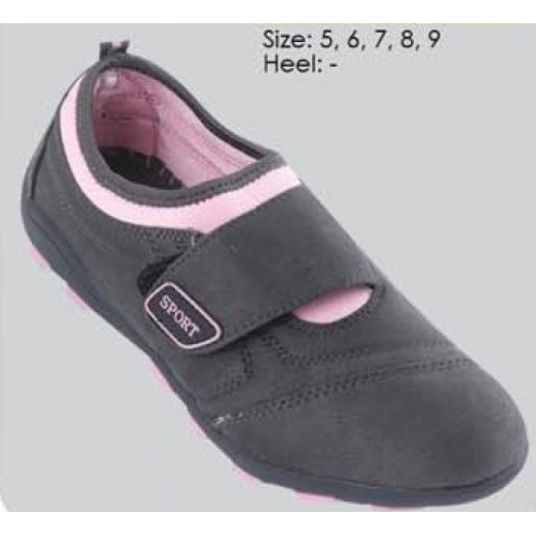 **CELLY** AUTHENTIC LADIES SPORT/ SNEAKER SHOE (BLACK+PINK)