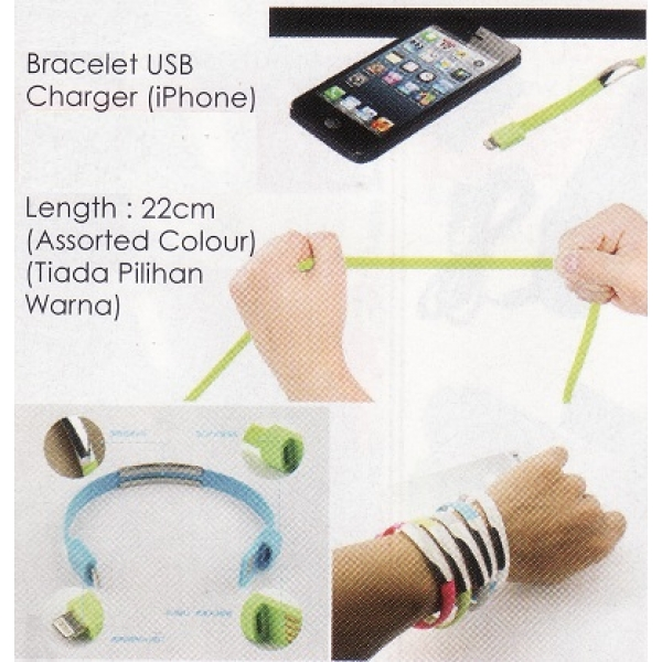 **CELLY** BRACELET USB CHARGER CABLE (Iphone)