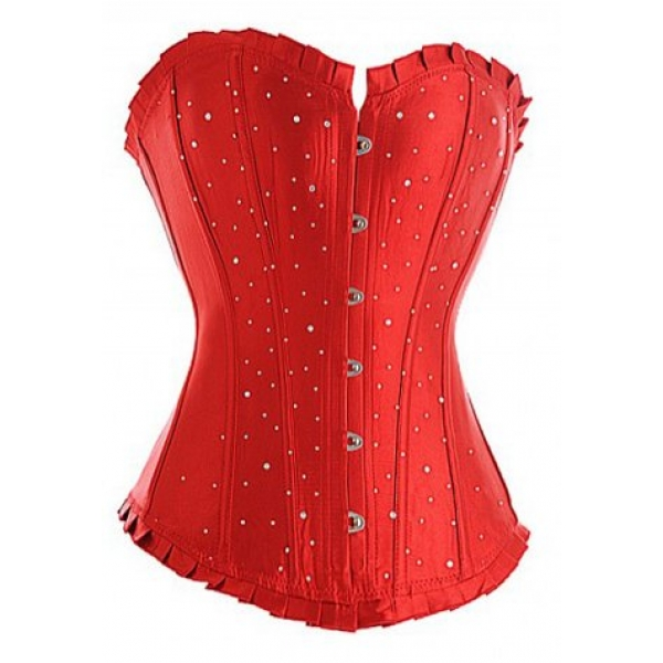 **CELLY**Classic Broadway Sequins Long Line Corset
