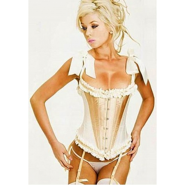 **CELLY**DEBUTANTE TIE STRAP AND STEEL BONED BURLESQUE CORSET