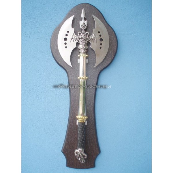 **CELLY**DEVIL DOUBLE HEAD AXE WITH WALL HOLDER