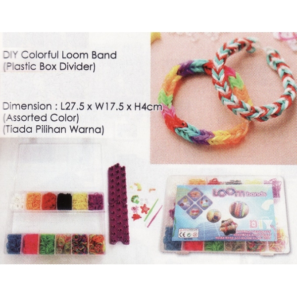 **CELLY** DIY COLORFUL LOOM BAND (PLASTIC BOX DIVIDER)