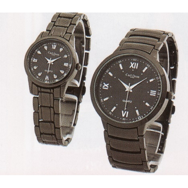 **CELLY**Fashionable Couple Watch Set (Black)
