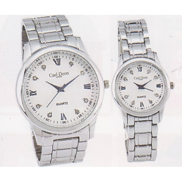 **CELLY**Fashionable Couple Watch Set (Silver)
