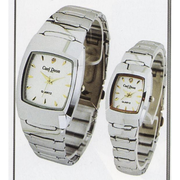**CELLY**FASHIONABLE COUPLE WATCH (SILVER)