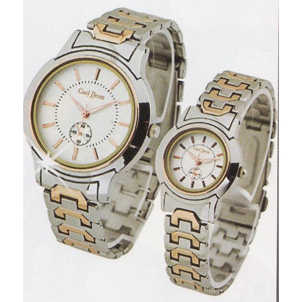 **CELLY**FASHIONABLE COUPLE WATCH (SILVER + GOLD)