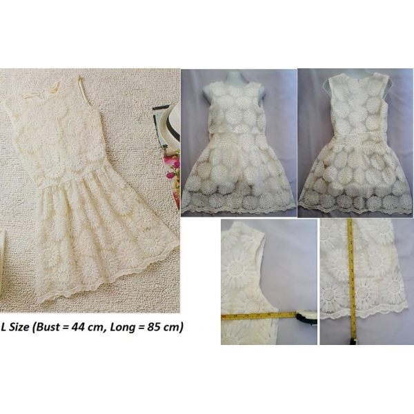 **CELLY**FLORA LACE DRESS (BEIGE)