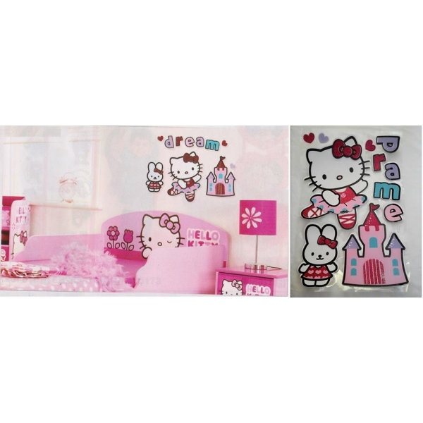 **CELLY**HELLO KITTY 3D WALL DECORATIVE STICKER