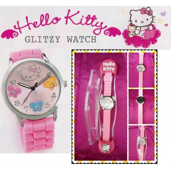 **CELLY**HELLO KITTY GLITZY WATCH (PINK)