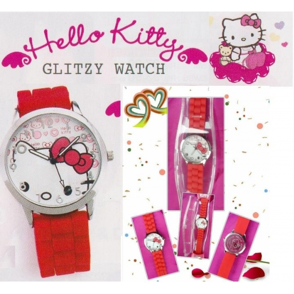 **CELLY**HELLO KITTY GLITZY WATCH (RED)