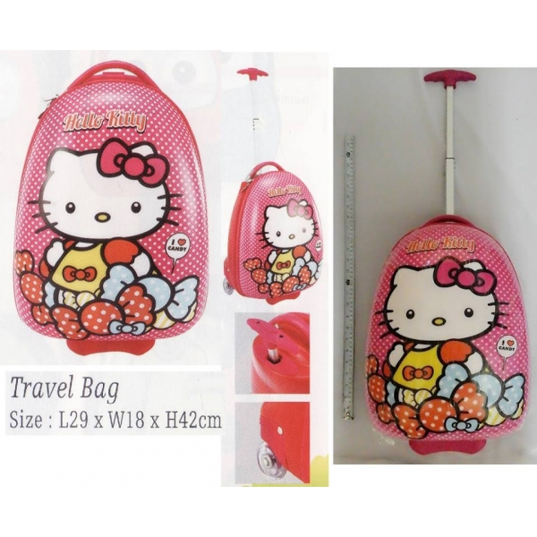 **CELLY**HELLO KITTY TRAVEL BAG WITH TROLLEY