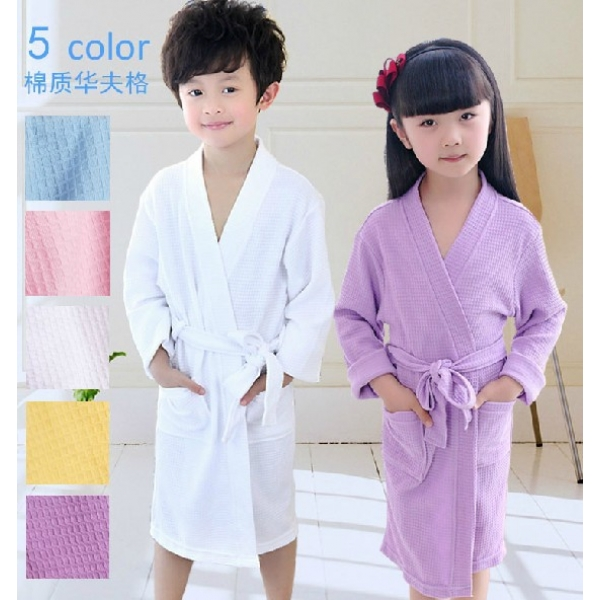 **CELLY**HIGH QUALITY CHILDREN PLAIN BATHROBE (UNISEX) (ASSORTED COLOU..
