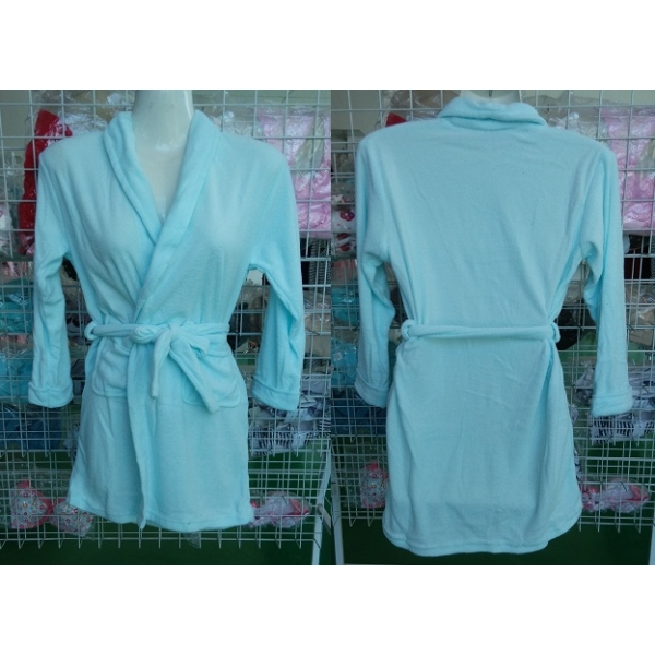 **CELLY**HIGH QUALITY CHILDREN PLAIN BATHROBE (UNISEX) (BLUE)