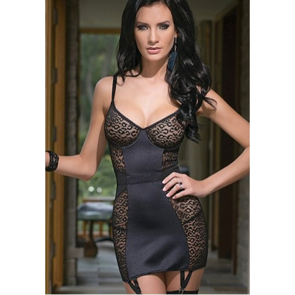 **CELLY** IMPORTED ALLURING DRESS WITH GARTER AND STRETCH STRAPS