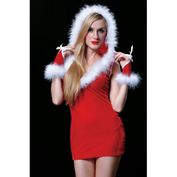**CELLY** Imported New Arrival Red Velvet Sexy Christmas Dress Holiday..