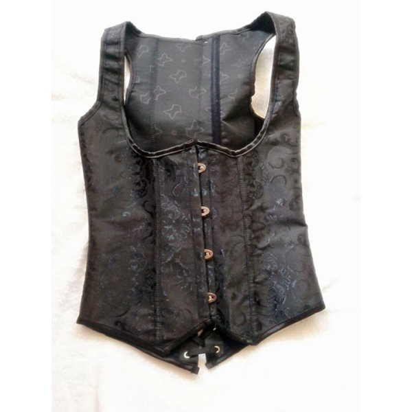 **CELLY**Imported Black Jacquard Tapestry Underbust Corset