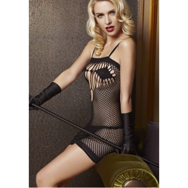 **CELLY** IMPORTED BLACK MESH STRAP STOCKING