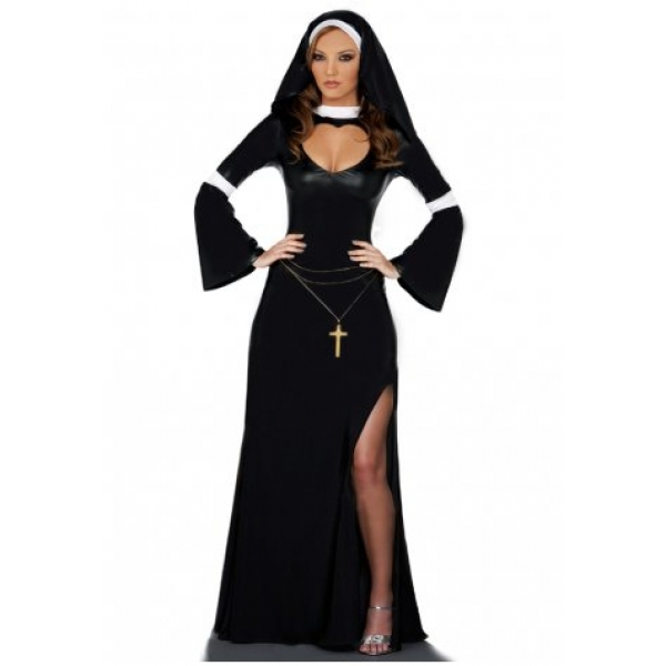 **CELLY** IMPORTED BLACK MODESTY NUN COSTUME