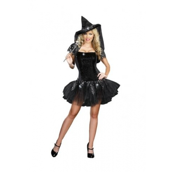 **CELLY**IMPORTED BLACK PAILLETTE WITCH COSTUME