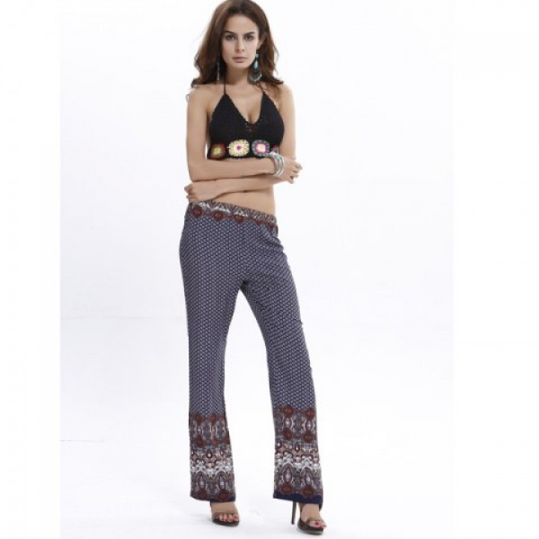 **CELLY**IMPORTED BOHEMIA CLASSICAL PRINT CASUAL TROUSERS