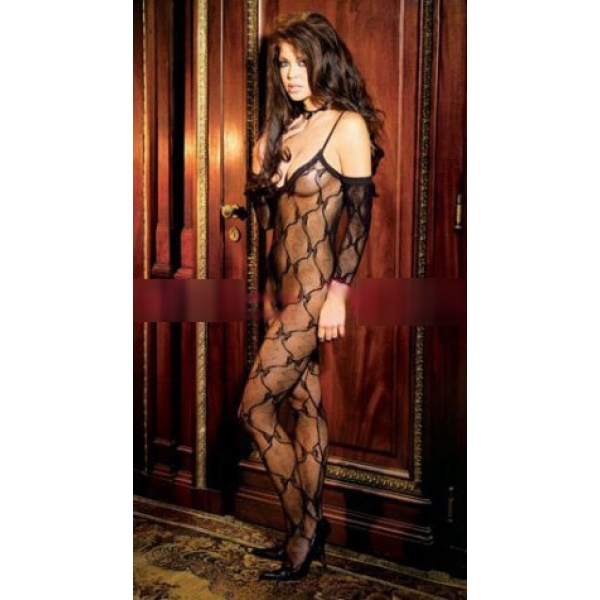 **CELLY** Imported Bow Tie Lace Body stocking