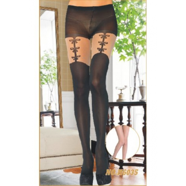 **CELLY** IMPORTED BOWKNOT PRINT LYCRA PANTYHOSE