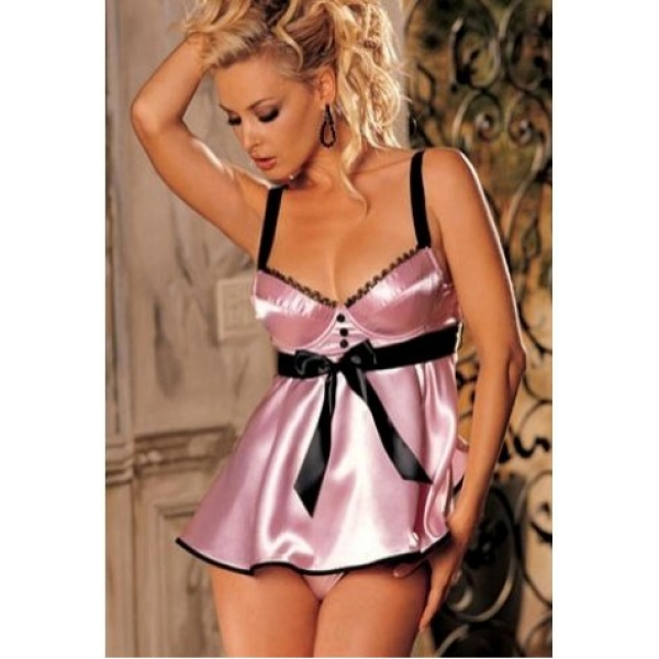 **CELLY** IMPORTED BREATH-HOLDING SEXY CHARMEUSE BABYDOLL