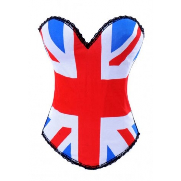 **CELLY** IMPORTED BRITISH FLAG PRINT CORSET