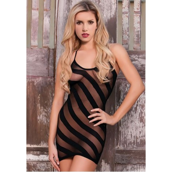 **CELLY** IMPORTED BURN OUT MINI DRESS