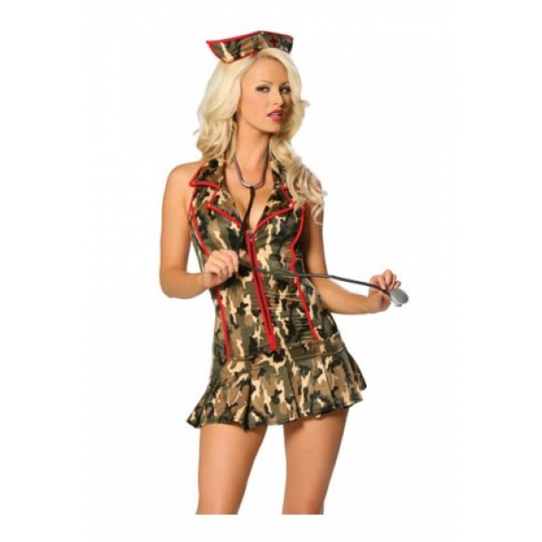 **CELLY** IMPORTED CAMOUFLAGE MILITARY DOCTOR COSTUME