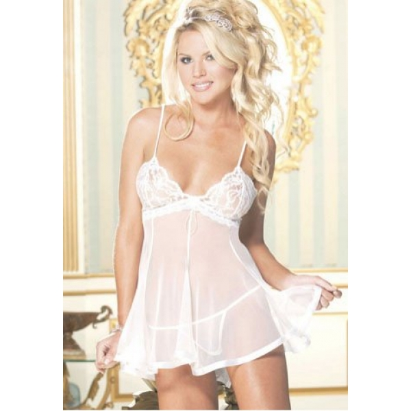 **CELLY** IMPORTED CHOPPER BAR LACE AND NET MESH BABYDOLL