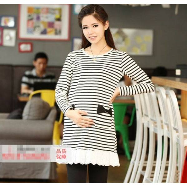 **CELLY**IMPORTED CLASSIC STRIPE PATTERN POCKET EMBELLISHED SPLICING M..