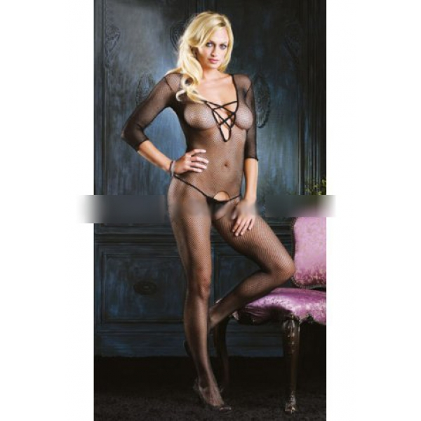 **CELLY** Imported Criss Cross Elastic Bodystocking