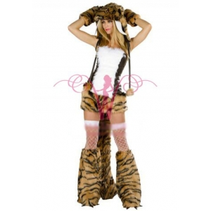 **CELLY** Imported Deluxe Sabertooth Tiger Costume