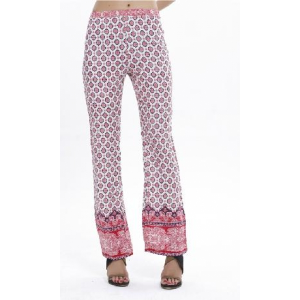 **CELLY**IMPORTED DIGITAL PRINT STRAIGHT-LEG PANTS